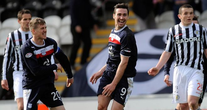 Carl Finnigan: Bagged a late winner for Dundee in Paisley