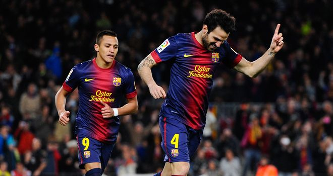 Cesc Fabregas: hat-trick hero for Barca