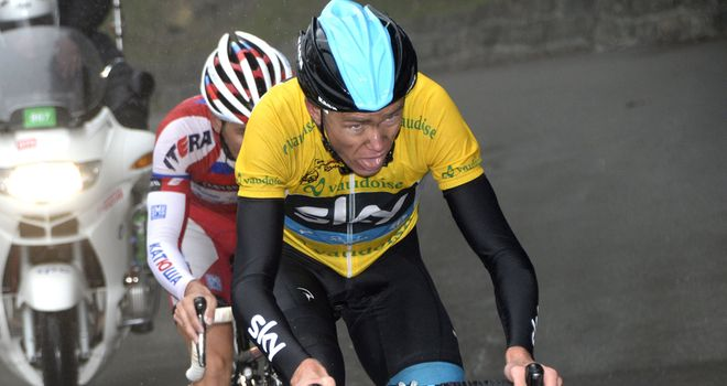 Chris Froome extended his overall lead with a brilliant climbing display alongside Simon Spilak