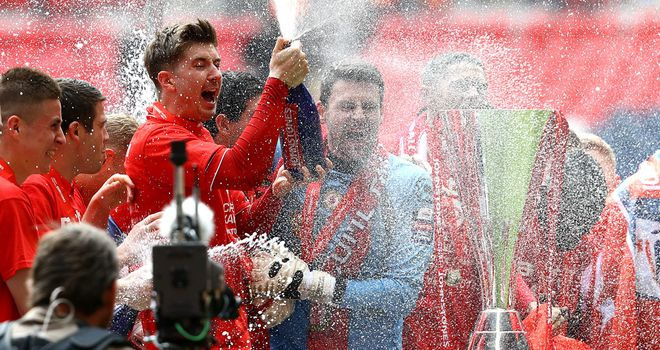 Crewe: Celebration time at Wembley