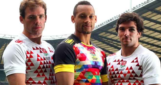 The new England Sevens shirts feature a pixellated design