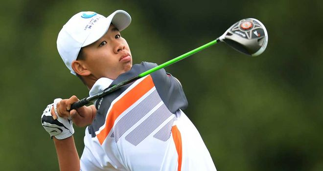 Guan Tianlang: Penalised a shot for slow play at the Masters