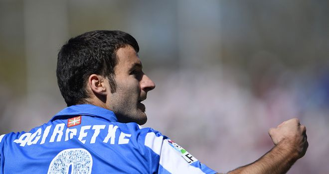 Agirretxe scored a brace for Real Sociedad