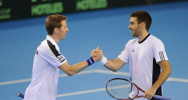 Colin Fleming and Jonny Marray: Doubles victory for Britain