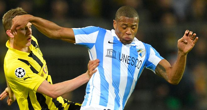 Julio Baptista: Netted a late winner to lift Malaga