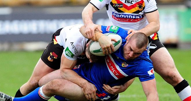 Justin Poore: one of seven try-scorers for Wakefield