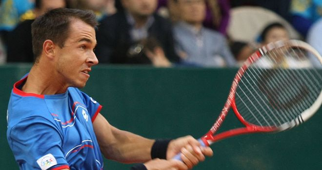 Lukas Rosol: Proved too powerful for Guillermo Garcia-Lopez