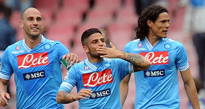 Lorenzo Insigne celebrates his winning goal