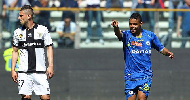 Luis Fernando Muriel Fruto celebrates his goal