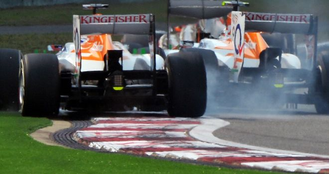 Force India: Friendly fire in Shanghai