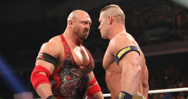 Ryback and Cena: rivals went head-to-head on Raw