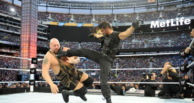 The Shield, inculding Rollins (R), have caused carnage since their debut
