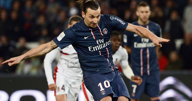 Zlatan Ibrahimovic tucks away a penalty for PSG