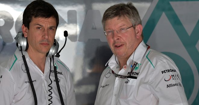 Ross Brawn and Toto Wolff: Know they have work to do