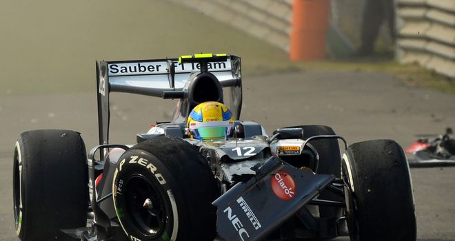 Esteban Gutierrez: Will take a grid penalty in Bahrain after crash