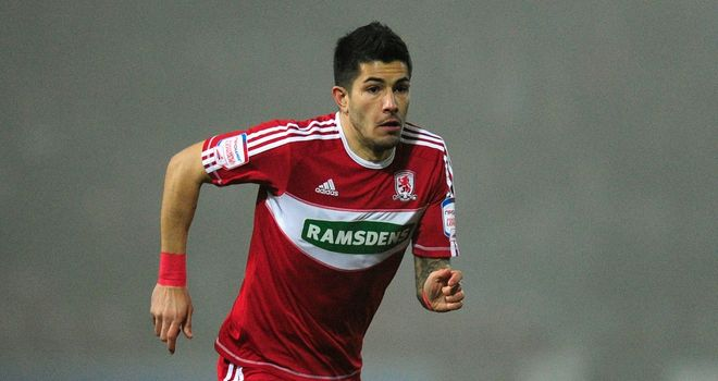 Emmanuel Ledesma: Went close for Boro