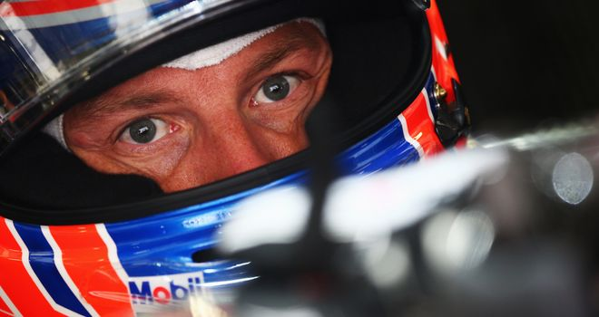 Jenson Button: Said the lap time drop-off on softs was large