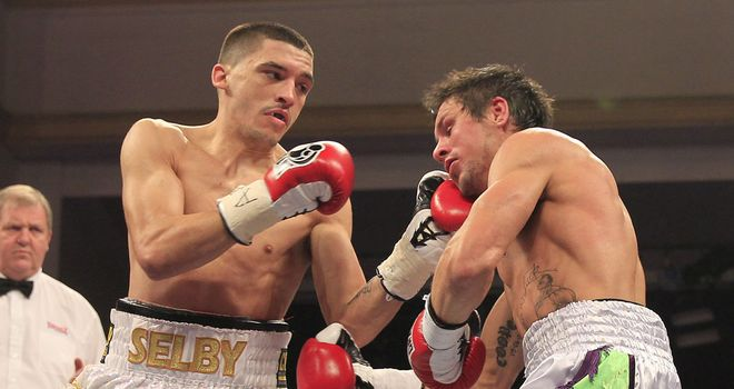 Lee Selby in action against Corey McConnell last time out (Pic Lawrence Lustig)