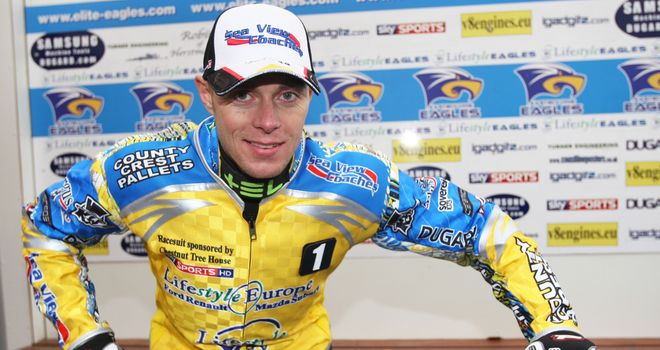 Bjarne Pedersen: Last-race hero for the Eastbourne Eagles (PIC CREDIT Speedwayprint.co.uk)