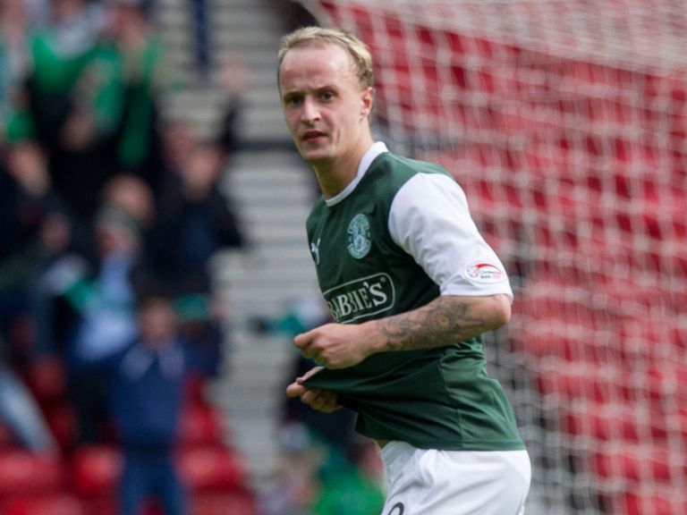 Hibernian striker Leigh Griffiths has been nominated