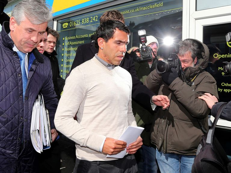 Carlos Tevez: Usually on 'good behaviour', says Mancini