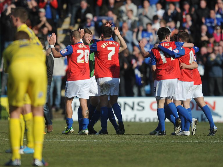 Gillingham celebrate promotion from League Two