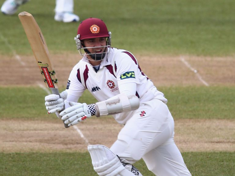 Stephen Peters' Northamptonshire had to settle for a draw.