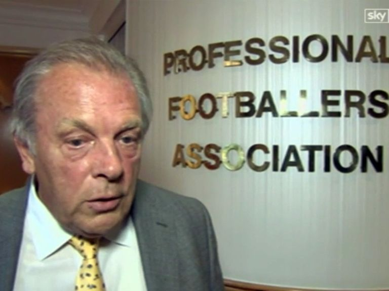 Gordon Taylor: Backed by the PFA