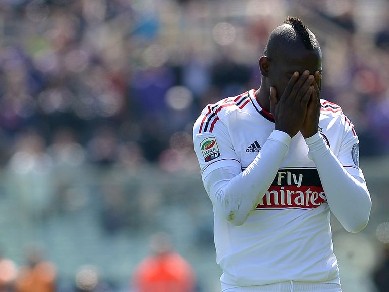 Mario Balotelli: AC Milan striker will now serve a two-game ban