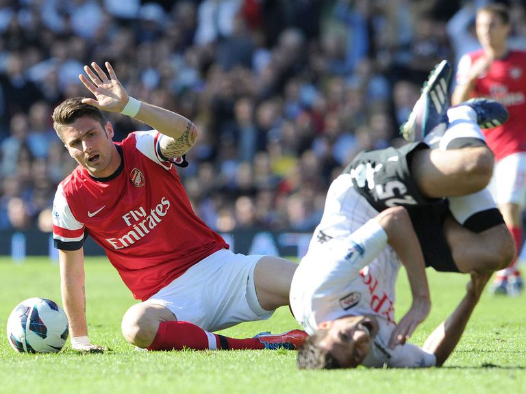 Olivier Giroud: Facing a three-match ban for red card at Fulham