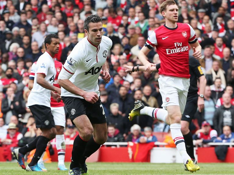 Robin van Persie: Scored against Arsenal on Sunday