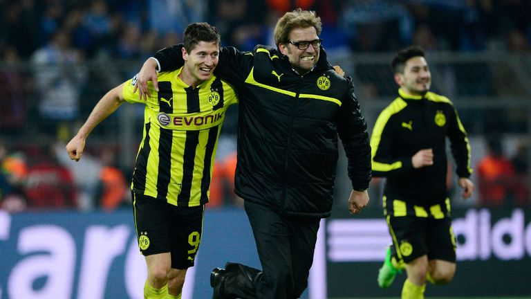 Robert Lewandowski and Jurgen Klopp: All smiles for Dortmund last season