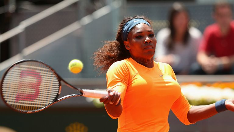 Serena Williams: American is defending her title in Madrid