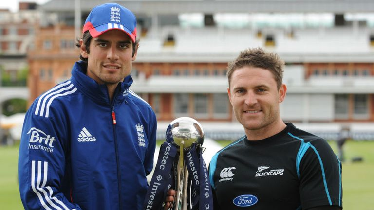 Alastair Cook and Brendon McCullum: Competed in five Tests in recent months
