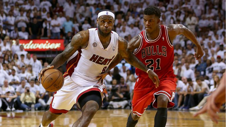 LeBron James scored 23 points for the Heat