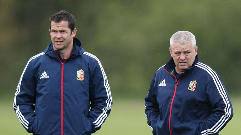 Warren Gatland (r): With Andy Farrell