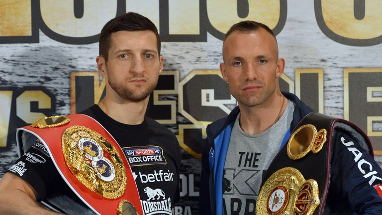 Mikkel Kessler, right, is confident he can register a second victory against Carl Froch
