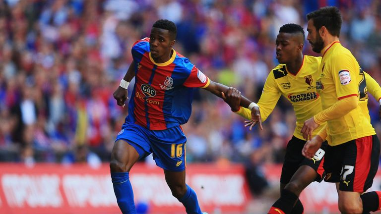 Wilfried Zaha: Crystal Palace may try to bring the winger back on loan from his new club Manchester United
