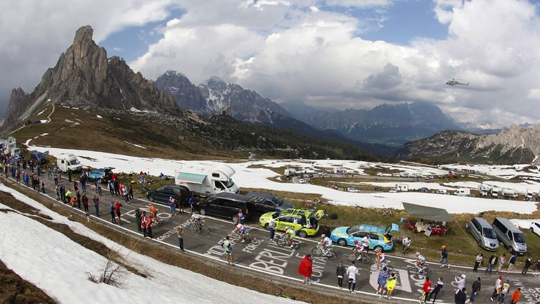 The Giro d'Italia is contested by 18 WorldTour teams and four wildcards