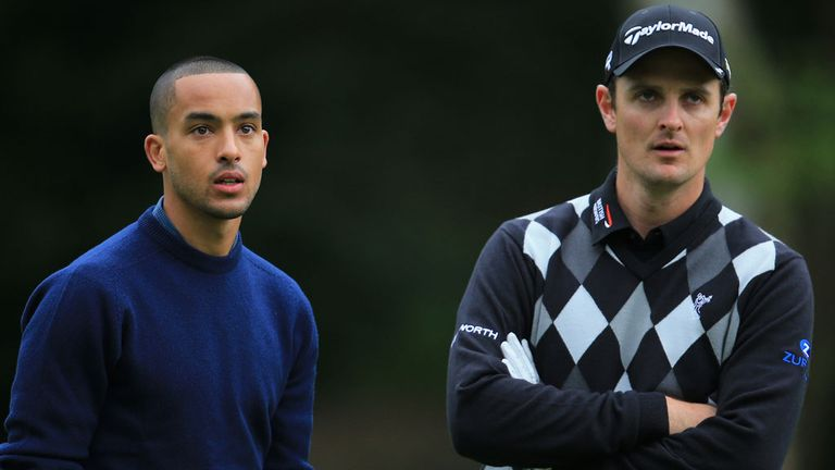 Justin Rose with Theo Walcott at Wentworth