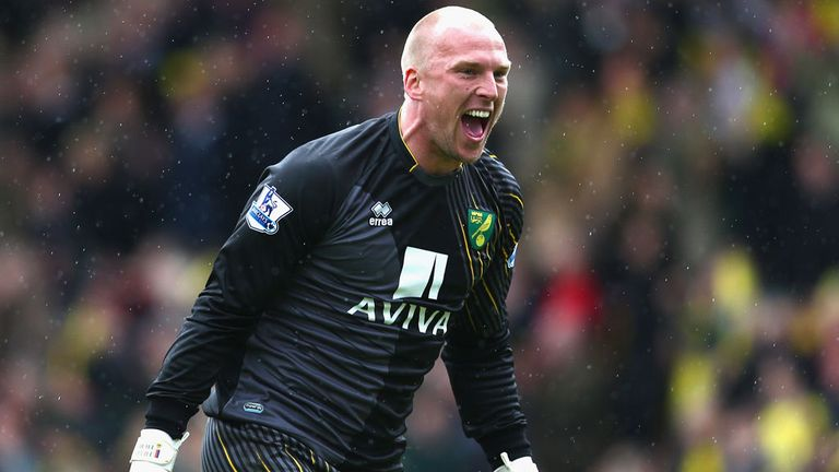 Norwich goalkeeper John Ruddy ready to challenge England No 1 Joe Hart