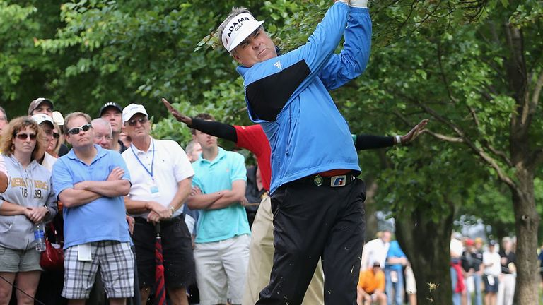 Kenny Perry at the 10th hole during Saturday's third round