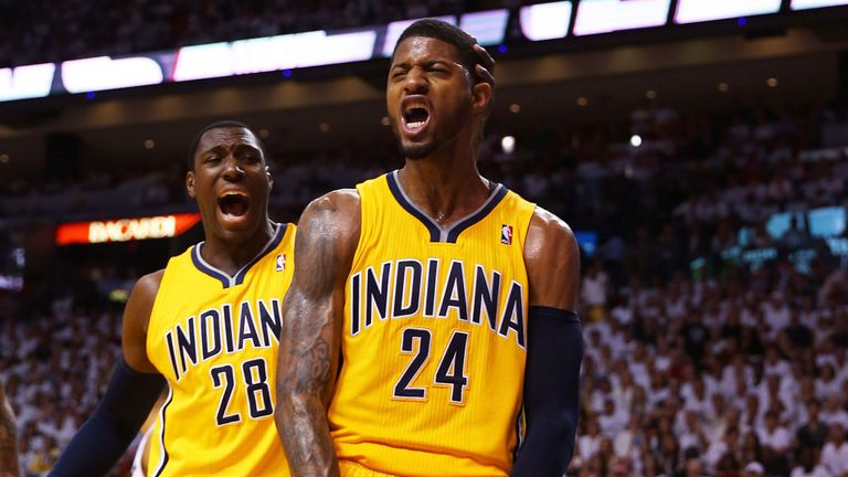 Paul George played a key role in Indiana's victory