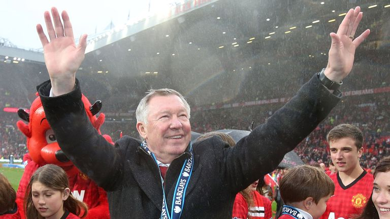 Sir Alex Ferguson: Said his goodbyes to the Old Trafford faithful