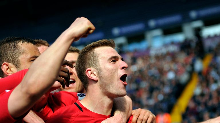 Wigan Athletic's Callum McManaman celebrates