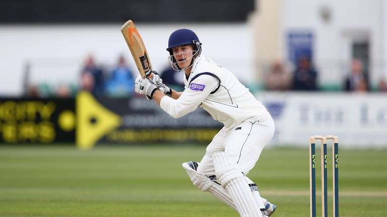 Jimmy Adams: Unbeaten on 71 in reply to Northants' first-innings 438