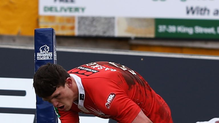 Lee Gaskell: a hat-trick in the first half for Salford