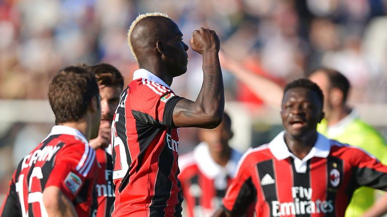 Mario Balotelli: Urged the Rossoneri to keep hold of Massimiliano Allegri