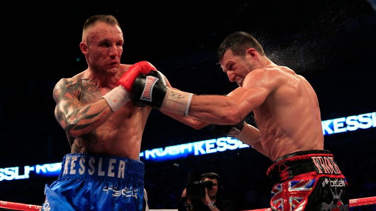 Carl Froch and Mikkel Kessler: Served up another thriller (photo courtesy of Lawrence Lustig)