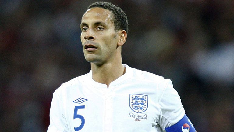 Rio Ferdinand: In action for England
